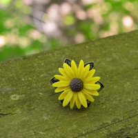 Sunflower Ring by cynicalredhead on Etsy