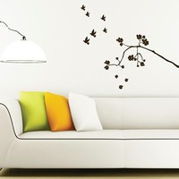 Wall Decal Falling Roses - Floral Wall Stickers