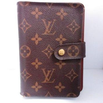 Auth LOUIS VUITTON Porte Papier Zip M61207 Monogram Canvas Wallet (two-fold)