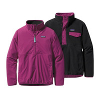 Patagonia Women's Reversible Snap-T Glissade Pullover- Violet