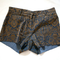 VTG jean and velvet high waisted hot shorts
