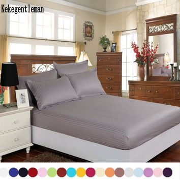 100% cotton solid color fitted sheet twin/full/queen/king 8 sizes