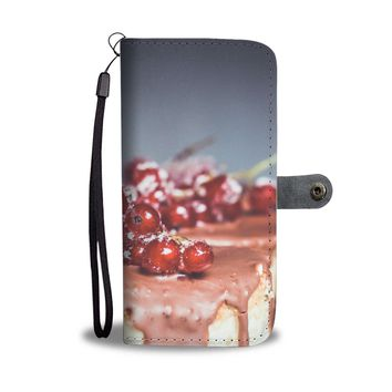 Chocolate and Cherries Phone Wallet Case
