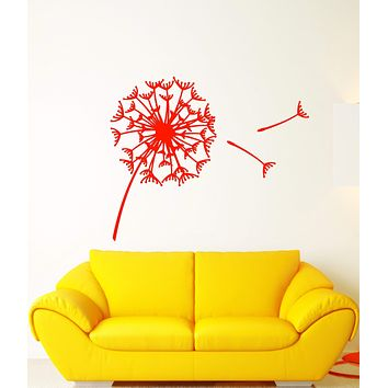 Vinyl Wall Decal Abstract Art Flower Bud Dandelion Parachute Stickers (3010ig)