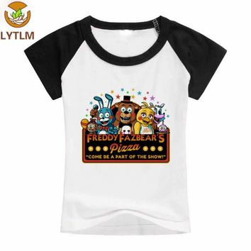 LYTLM 5 Nights at Children's Clothing for Boys Five Night At Freddy Tee Baby Boy Tshirt Cotton Girls Clothes 10 12 year