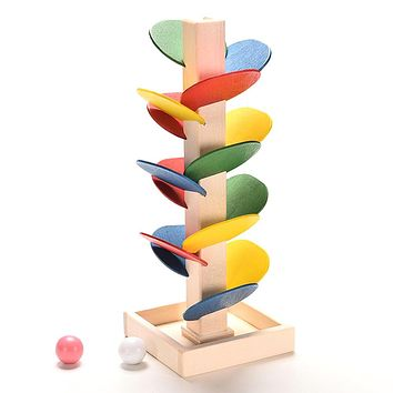 Toys For Children Wooden Toys Building Blocks Tree Marble Ball Run Track Game Educational Baby Kids Toys Gift Toy