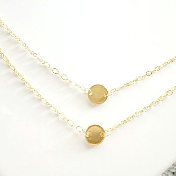 Gold Double layer Initial Necklace