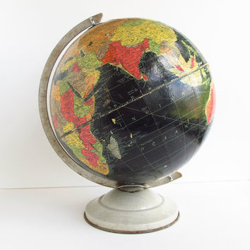 Vintage Precision Globe Black Oceans Repogle 12 by ItchforKitsch