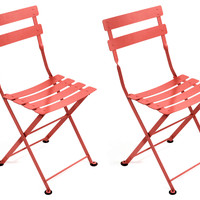 Poppy Tom Pouce Kids Chair, Pair, Outdoor Bistro Chairs