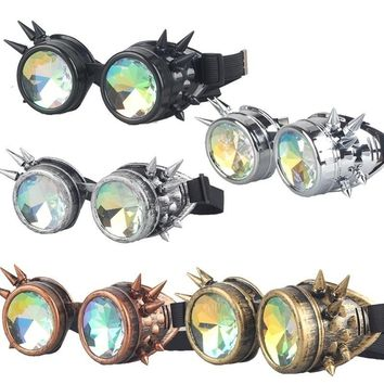Kaleidoscope Glasses Rainbow Crystal Lenses  Prism  Cosplay Steampunk