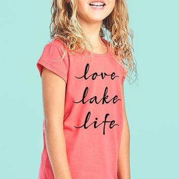 Love Lake Life Round Neck Short Sleeve Top