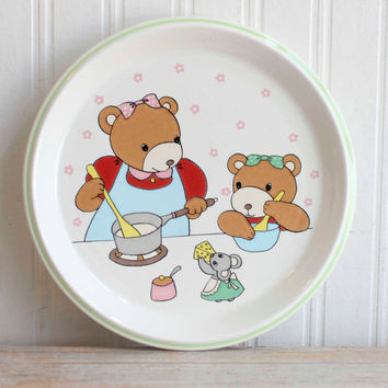 Little Chief Mikasa Vintage Plate - Bear Family Childrens Plate