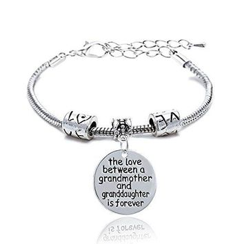 AUGUAU Mother Daughter Mother Son Grandmother Grandson Granddaughter Charm Bracelets Mom Gifts Mother's Day