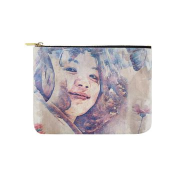 Levi Thang Vintage Face Design V Carry-All Pouch 8''x 6''