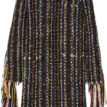 MSGM - Fringed bouclé-tweed jacket