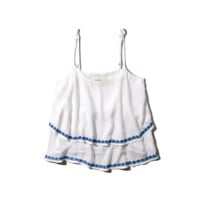 Embroidered Tier Cami