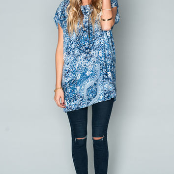 Show Me Your mumu Faith Tunic ~ Hanky Blue Breeze
