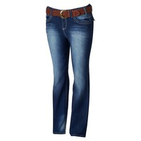 Wallflower Luscious Curvy Bootcut Jeans with Belt - Juniors' Plus, Size: