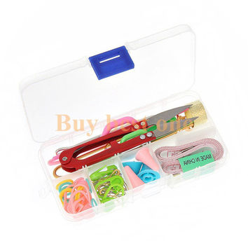 2016 DIY Knitting Tools Set Crochet Hook Stitch Weave Accessories Supplied With Case Box Yarn Knit Kit