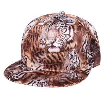New Leopard Novelty Baseball Cap Fashion Hats For Men And Women Unisex Bone 2 Colors Gorras