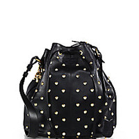 Alexander McQueen - Spike Studded Padlock Bucket Bag - Saks Fifth Avenue Mobile
