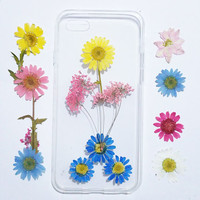 iphone 5s cover, iPhone 5 tpu Case pressed flower, floral iPhone 6 cover tpu, bumber iPhone 6s Case, iPhone 6s Plus Case, tpu iphone 6 case