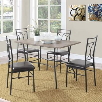 Dorel Living Shelby 5-piece Rustic Wood and Metal Dining Set | Overstock.com Shopping - The Best Deals on Dining Sets