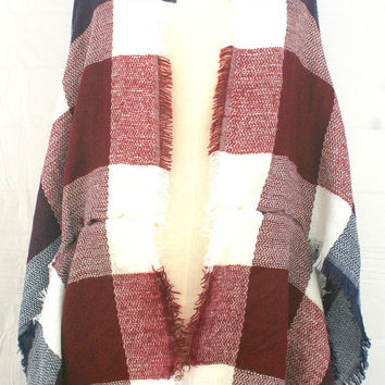 Plaid Kimono Cardigan, Plus size clothing, Christmas stocking stuffer, unique gifts for women for her, Christmas presents for mom, PiYOYO