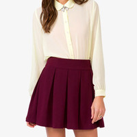 Sheer Peter Pan Collar Shirt | FOREVER 21 - 2018569903