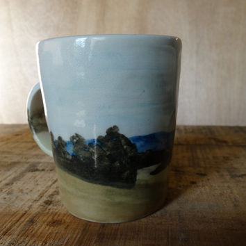 Landscape cup, MADE TO ORDER, Australian ceramics, Australian made, handmade, coffee tea cup, listing is for one cup