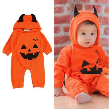 0 to 24M Newborn Kids Baby Boy Girls Clothes New Style Cute Halloween Long Sleeve Romper Jumpsuit Outfits Baby Clothing