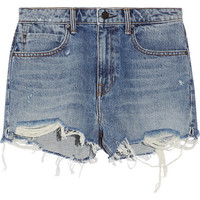 Alexander Wang - Distressed denim shorts