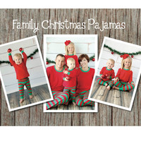 Matching Family Christmas Pajamas in Adult, Children and Baby Sizes, Red, White and Green Pajamas, Family Photo Prop – FREE SHIPPING*
