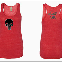 Punisher/Molon Labe Ladies' Racerback Tank