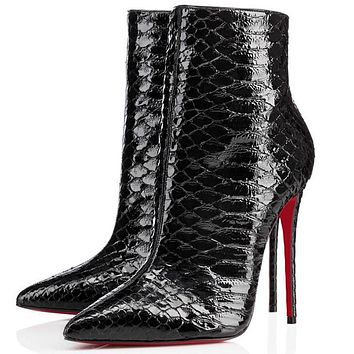 Christian Louboutin Women Fashion Casual Heels Shoes Boots-19