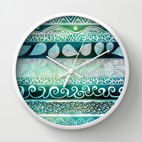 Dreamy Tribal Part VIII Wall Clock by Pom Graphic Design