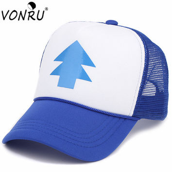 2017 New Spring Summer Gravity Falls U.S Cartoon Mabel Dipper Pines Cosplay Cool Baseball Mesh Caps Adjustable Hat