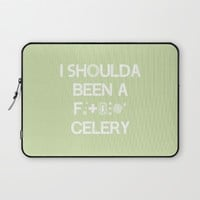 I shoulda been a celery Laptop Sleeve by Ia Po