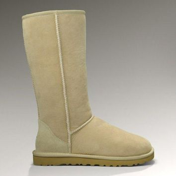 ESBON UGG 5815 Classic Tall Women Men Fashion Casual Wool Winter Snow Boots Sand
