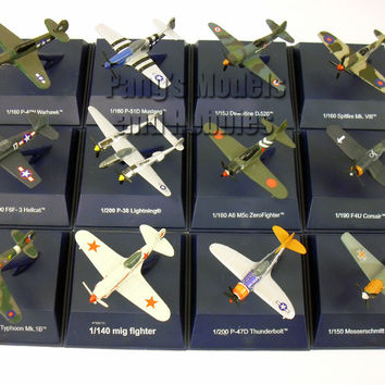World War II Fighter Diecast Metal Collection (12 Airplanes) by NewRay