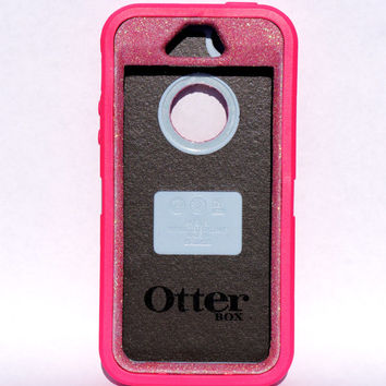 Otterbox Case iPhone 5/5s Glitter Cute Sparkly Bling Defender Series Custom Case pink / Pink