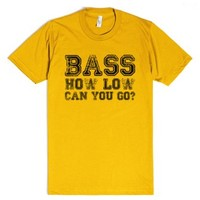 Bass How Low Can You Go T Shirt-Unisex Gold T-Shirt
