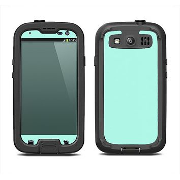 The Subtle Solid Green Samsung Galaxy S3 LifeProof Fre Case Skin Set