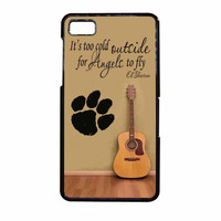 Ed Sheeran Guitar And Song Quotes BlackBerry Z10 Case