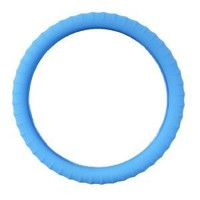 New SILICONE-Neon Blue Glow in the Dark- Car Steering Wheel Cover By Cameleon