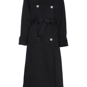 Simone Rocha Trench Coat With Contrast Lace - Farfetch