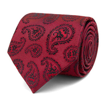 Batman Paisley Burgundy Tie - Exclusive