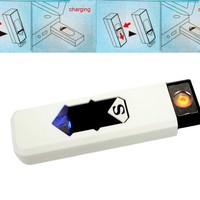 USB charging green electronic cigarette lighter very cute!!!