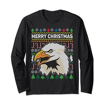 Eagle Ugly Christmas Long Sleeve T-Shirt - Merry Christmas