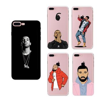 Cute Sexy Drake One Dance 6 God 1 800 Hotline Bling TPU Soft Case Skin Coque Shell Cover for Apple iphone 5 5s SE 6 6s 7 Plus